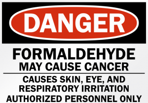 Danger Formaldehyde sign.