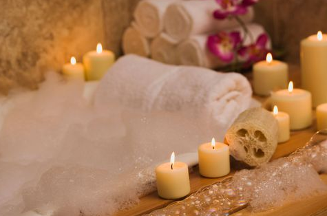 Relaxing natural bubble bath