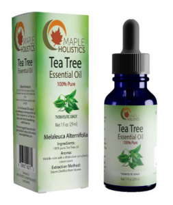 Maple Holistics tea tree essential oil.