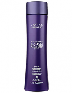 Caviar anti-aging hair shampoo product bottle.