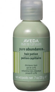 Aveda Pure Abundance hair potion product bottle.