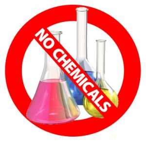No chemicals warning over beakers.