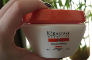 Kerastas mask for hair container.