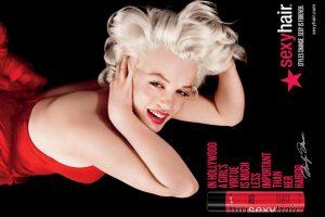 Marilyn Monroe in advertisement.