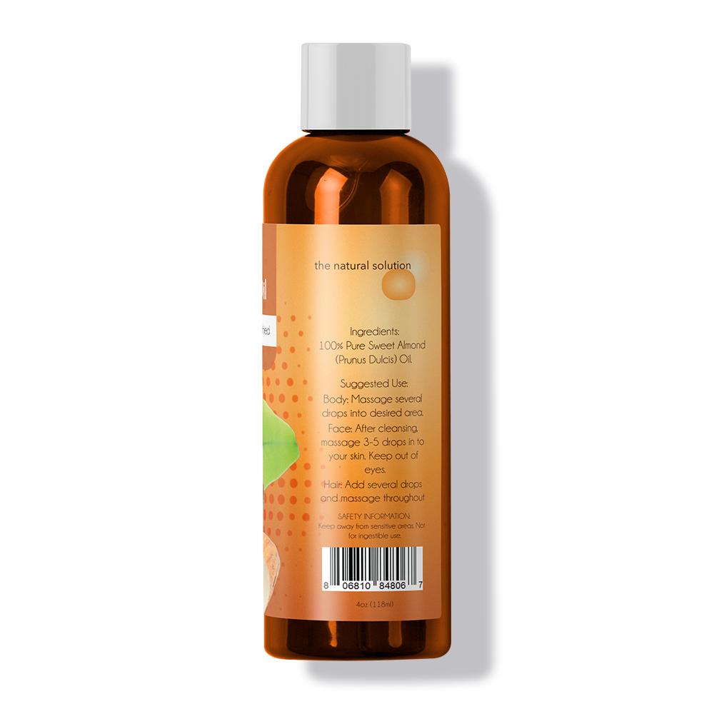 Almond Oil   For Hair, Skin, & Health   Pure   Maple Holistics