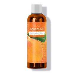 Bottle of maple holistics apricot oil.