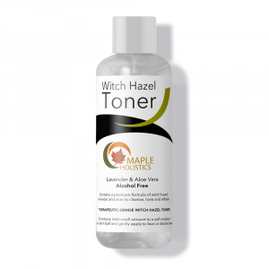 Bottle of witch hazel toner.
