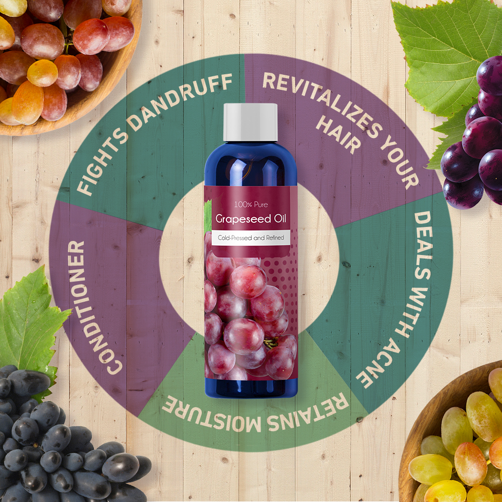Grapeseed oil infographic.