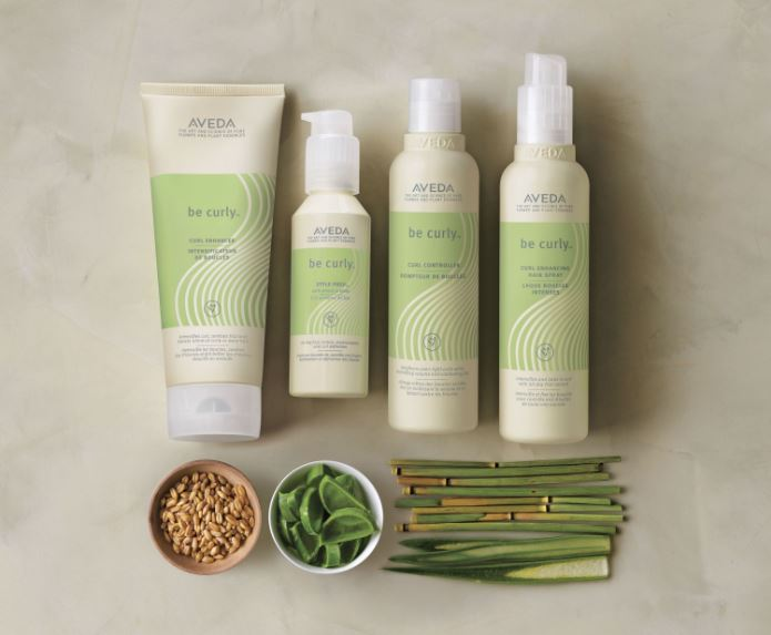 Aveda be curly products and ingredients.
