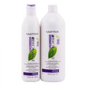 Matrix Biolage product bottles.