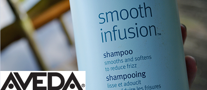 Aveda Smooth Infusion bottle.
