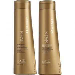 Joico K-Pak duo product bottles.