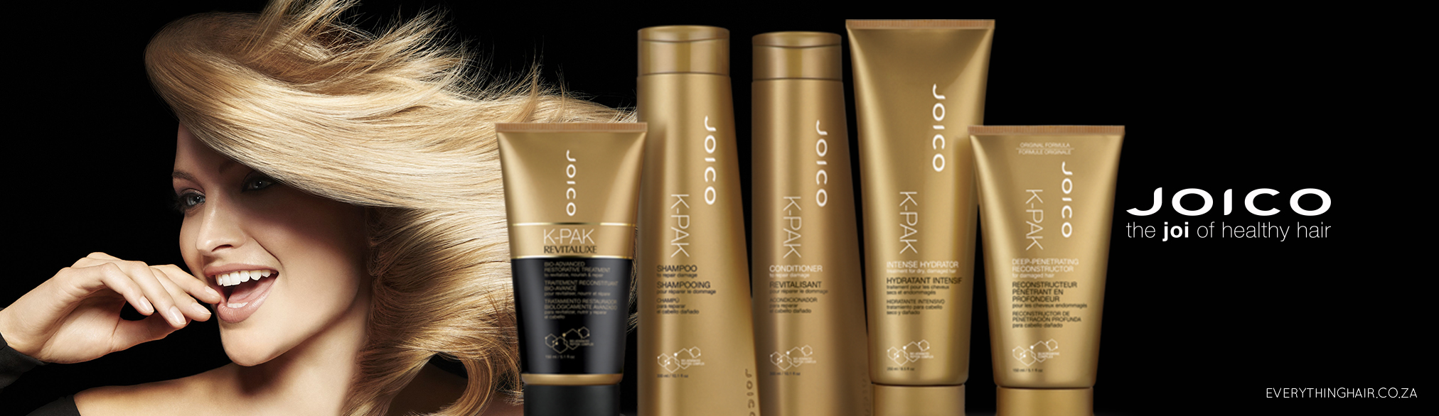 Joico advertisement with blonde woman.