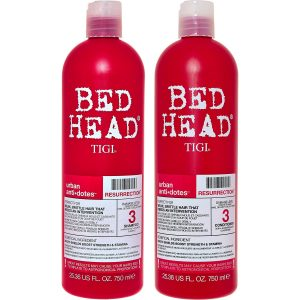 Tigi Bed Head product bottles.