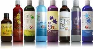 Maple Holistics Shampoo bottles.