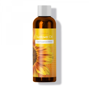 Bottle of maple holistics sunflower oil.