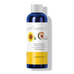 Bottle of sunflower oil.