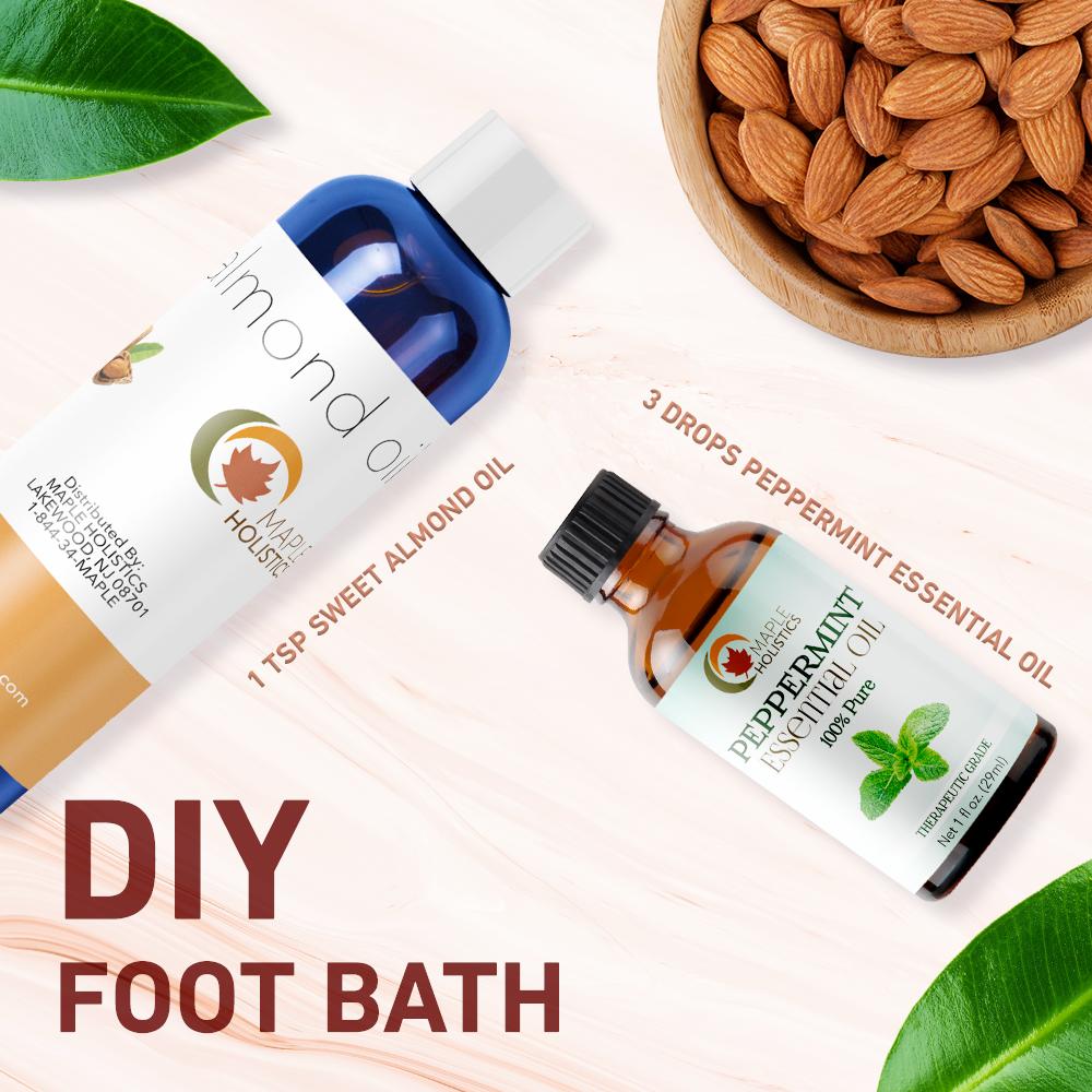 DIY foot bath ingredients.