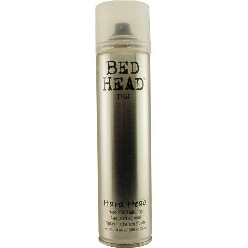 Tigi bed head hard head spray.