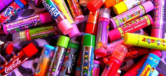 A pile of Lip Smackers.