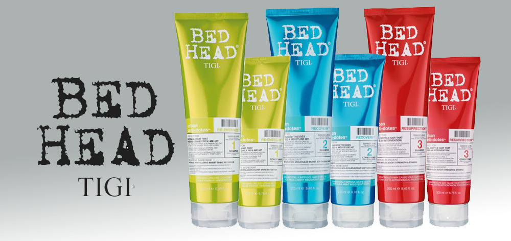 Bed Head bottles.