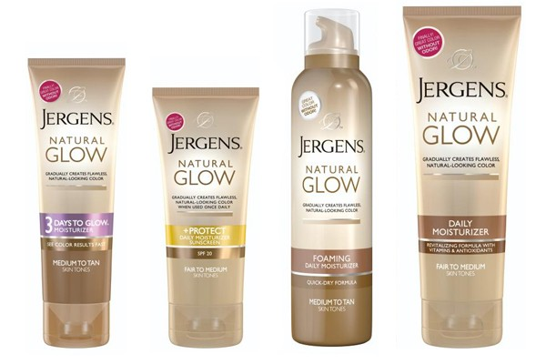 Jergens Natural Glow bottles.