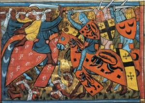Graffiti of armour.