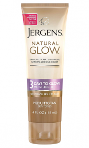 Jergens sun-less tanning cream.