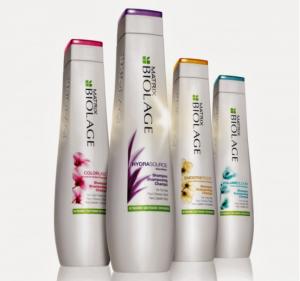 Biolage colorlast product bottles.