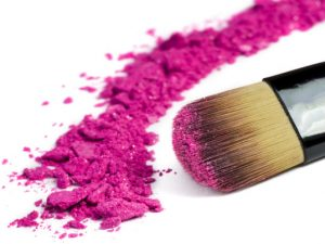 Brush with pink powder