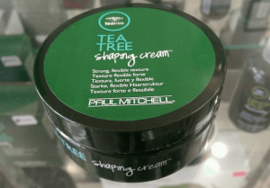 Paul Mitchell tea tree shaping cream.