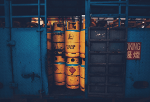 Barrels of harmful chemicals.