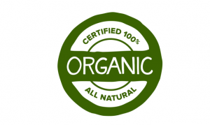 Organic certified label.