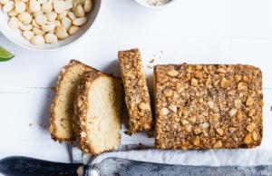 Slices nut bread.