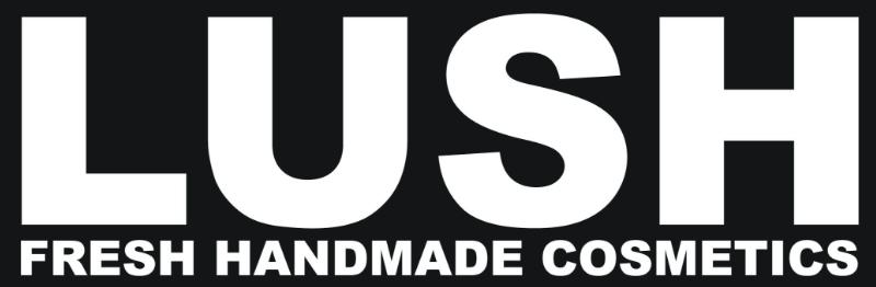 Lush fresh handmade cosmetics banner.