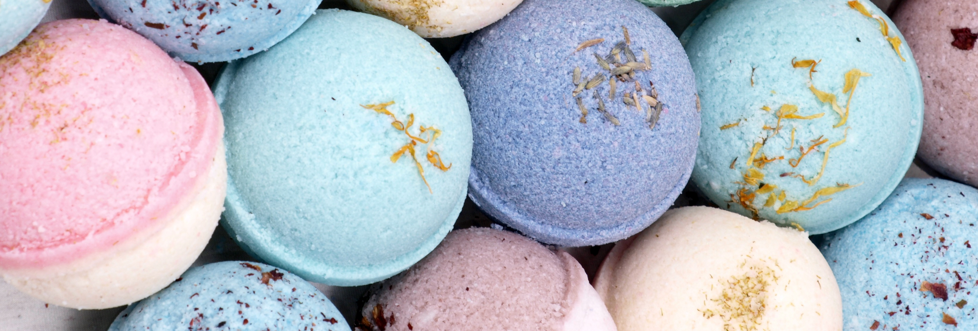 A variety of Lush bath bombs.