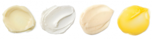 Different types of hair treatments from Lush.