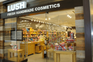 Lush store in a mall.
