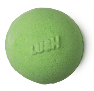 Lush's avobath green bath bomb.