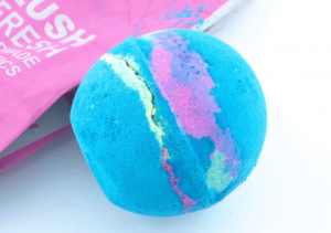 Lush's multicolored intergalactic bath bomb.