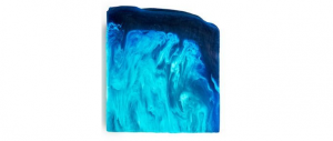 Lush's outback mate blue soap bar.