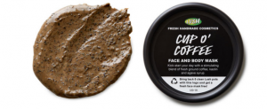 Lush's cup o' coffee face mask.