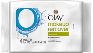 Olay's makeup remover wet cloths.