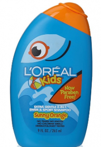 L'Oréal's kids extra gentle 2-in-1 swim & sport shampoo.