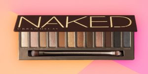 Urban Decay naked palette with brush.