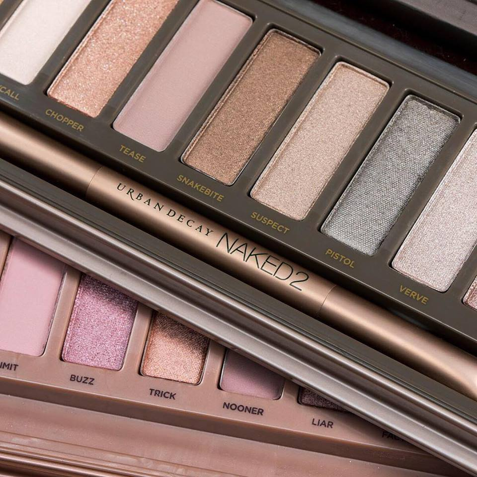 Urban Decay eye shadow palette.