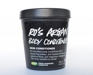 Lush's ro's argan body conditioner.