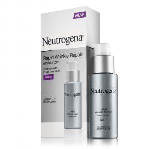 Neutrogena's rapid wrinkle repair system moisturizer.