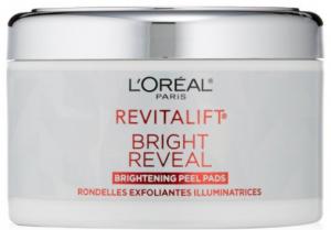 L'Oreal's revitalift bright reveal brightening peel pads.