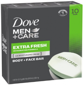 Dove's men care body and face bar.